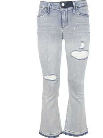 RTA Distressed Flared Jeans