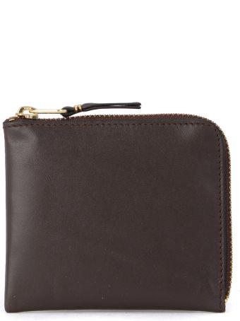 Comme des Garçons Wallet Comme Des Garçons Brown Leather Coin Pocket.