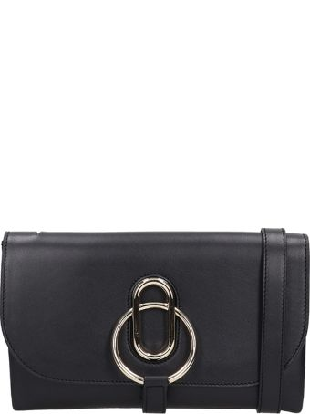 Stée Ivy Black Leather Pochette