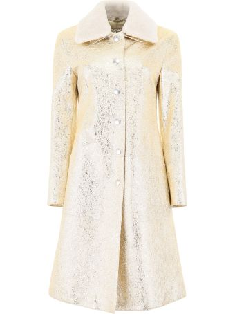 Bottega Veneta Gold Leather Coat