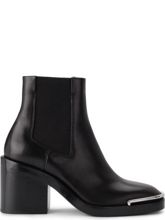 Alexander Wang Hailey Chelsea Black Leather Ankle Boots