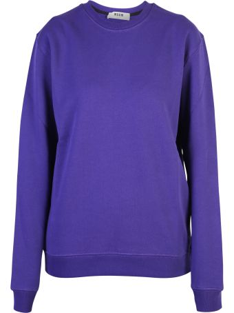 MSGM Blue Branded Sweatshirt