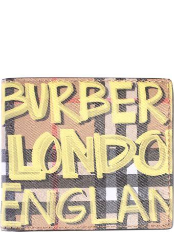 Burberry Multicolored Graffiti Wallet