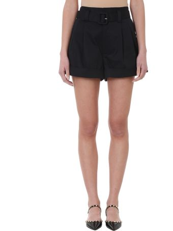 Marc Jacobs High Waist Black Cotton Shorts