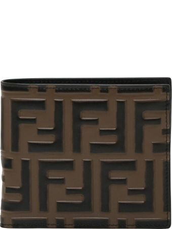 Fendi Black Leather Bi-fold Wallet