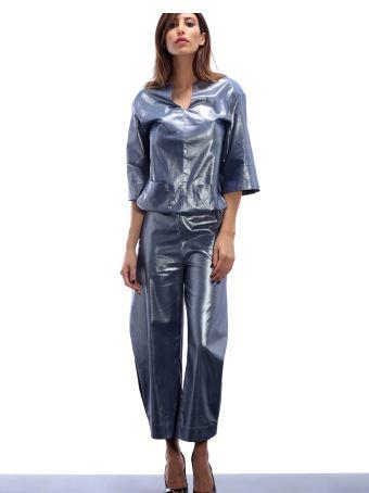 Altalana Coated Cotton Pant 01-egret