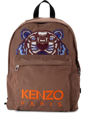 Kenzo Camel Fabric Tiger Backpack