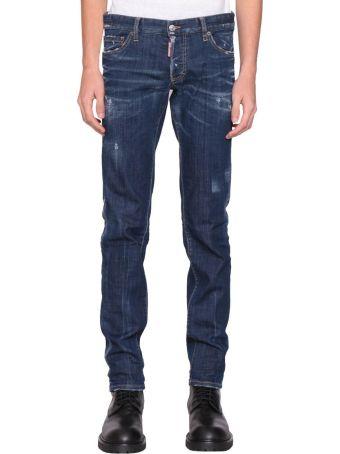 Dsquared2 Slim Fit Cotton Denim Jeans