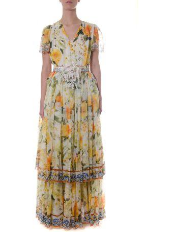 Dolce & Gabbana Multicolor Silk Floral Printed Dress