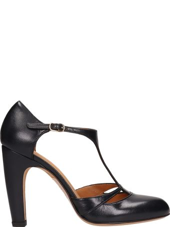 Chie Mihara Black Leather Sandals