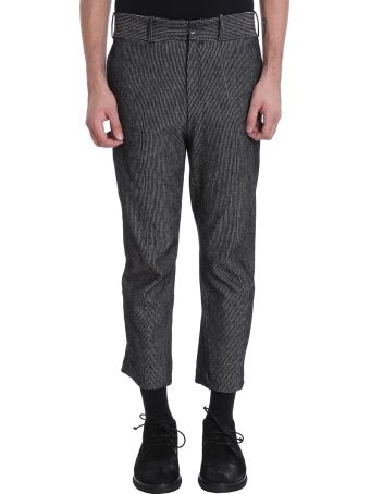 Damir Doma Pietari Grey/black Cotton Pants