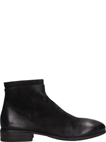 Marsell Zucca Black Leather Boots