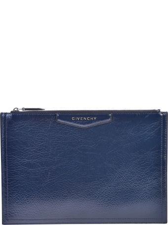 Givenchy Blue Medium Antigona Clutch