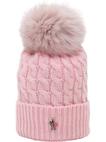 Moncler Grenoble Beanie With Fox Fur Pompon