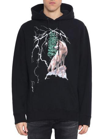Marcelo Burlon Wolf Lightning Cotton Hoodie