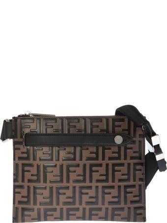 Fendi Logo Monogram Shoulder Bag