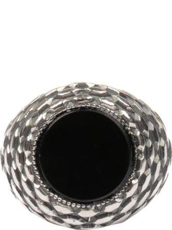 Emanuele Bicocchi Onyx Silver Ring