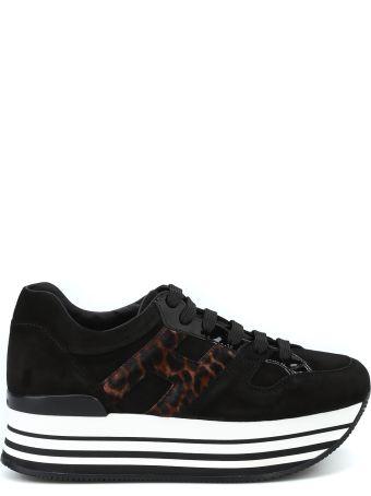 Hogan Maxi H222 Haircalf H Suede Sneakers