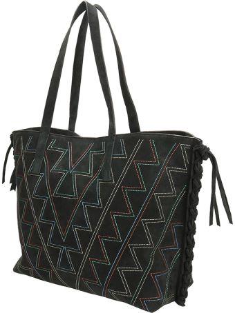 Isabel Marant Black Suede Shopper Bag