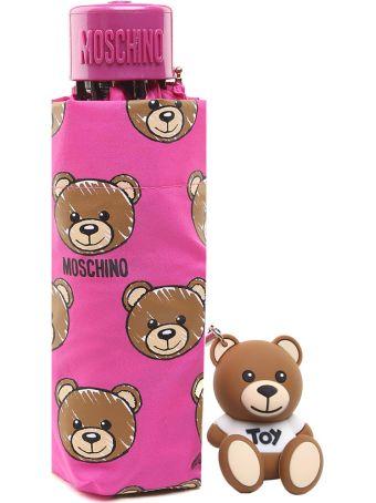 Moschino Allover Teddy Nylon Mini Umbrella