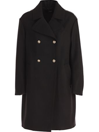 Versus Versace Quilted Double Breasted Coat