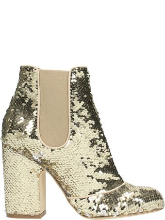 Laurence Dacade Mila Gol Sequins Ankle Boots