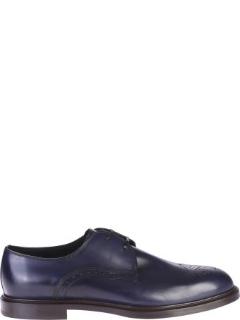 Dolce & Gabbana Blue Derby Shoes