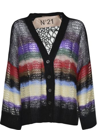 N.21 Sheer Striped Oversized Cardigan