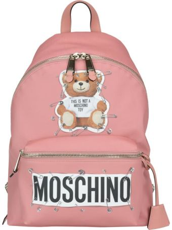 Moschino Safety Pin Teddy Backpack