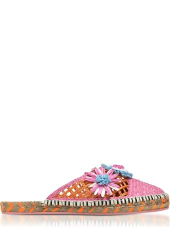 Sophia Webster Jute And Leather Tansy Espadrille Slippers