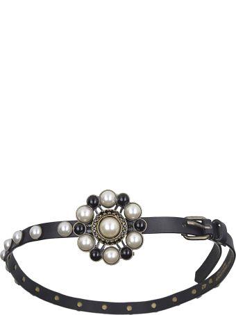 Philosophy di Lorenzo Serafini Pearl Embellished Belt