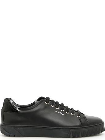Salvatore Ferragamo Calfskin Clyde Sneakers