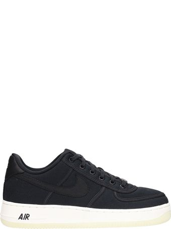 Nike Air Force 1 Low Black Canvas Sneakers