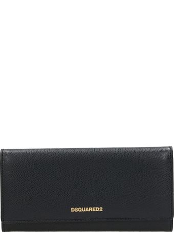 Dsquared2 Black Leather Wallet