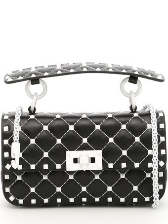 Small Leather Rockstud Spike Bag