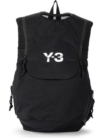 Y-3 Running Black Nylon Backpack