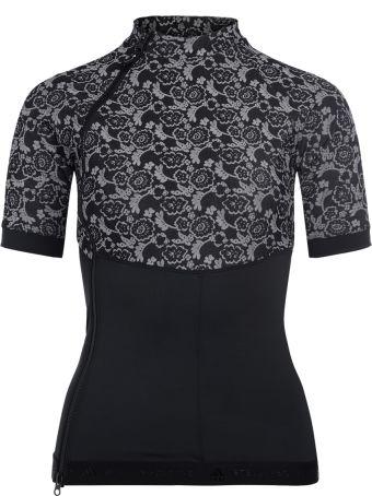 Stella McCartney Adidas By Stella Mccartney Run T-shirt In Elastic Fabric And Breathing Mesh