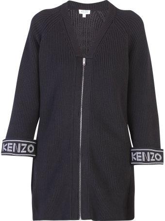 Kenzo Black Brandedcardigan