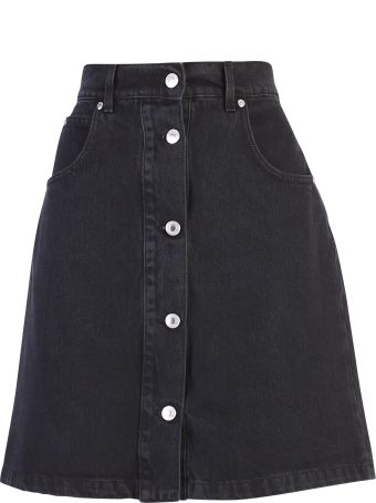 MSGM Black Denim Skirt