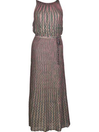 M Missoni Two-tone Micro Pleated Dress