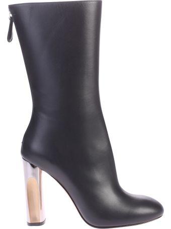 Alexander McQueen Black Zipped Boots