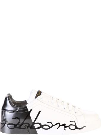 Dolce & Gabbana White Branded Sneakers