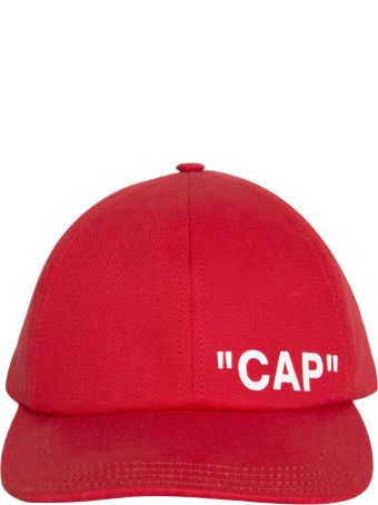 Off-White Quote Cotton Baseball Cap