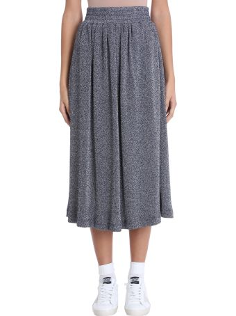 Golden Goose Blue Lurex Long Skirt