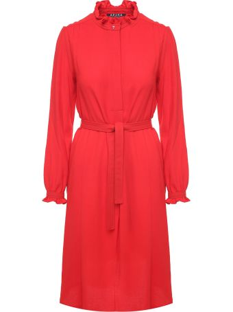 A.P.C. Astor Viscose And Wool-blend Crepe Midi Dress