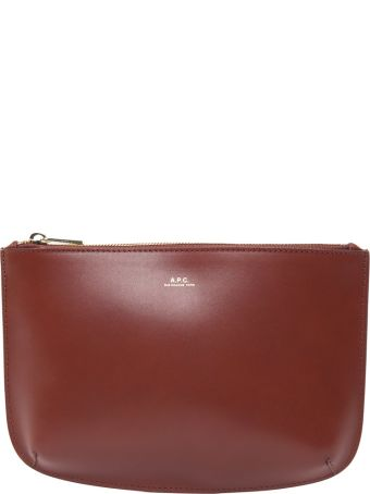 A.P.C. Sarah Smooth-leather Clutch