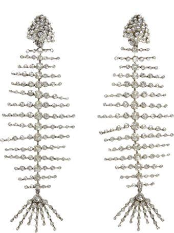 Saint Laurent Crystal Fish Earrings