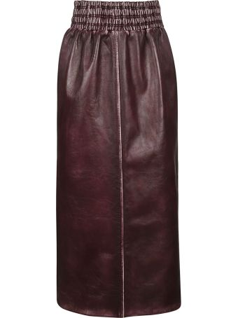 Miu Miu Vintage Effect Leather Skirt