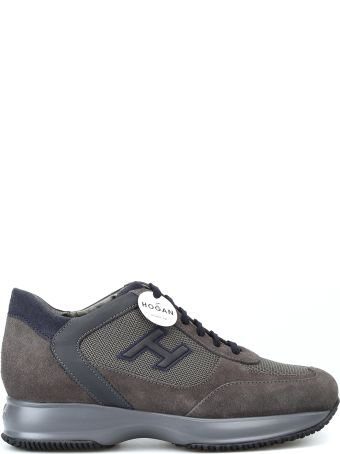 Hogan New Interactive Taupe Suede Sneakers