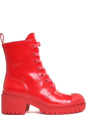 Marc Jacobs Bristol Shiny-leather Combact Boots